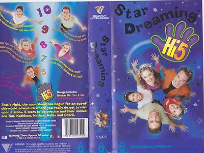 Hi 5 Star Dreaming Vhs Video Pal~ A Rare Find In Excellent Condition