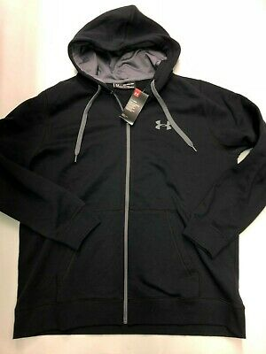 8b604db0 NWT MEN'S UNDER Armour Hoodie Size 3XL XXXL Black zip Sweatshirt New ...