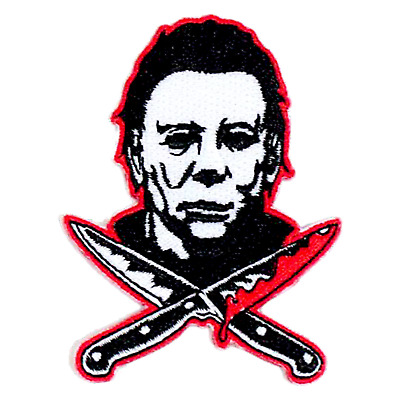 056d0e64 Rock Rebel Michael Myers Halloween II Cross Knives Goth Sew On Embroidered  Patch