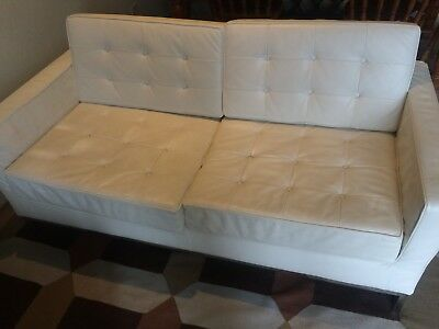 Superb Ikea Landskrona White Leather 2 3 Seater Sofa Used Gmtry Best Dining Table And Chair Ideas Images Gmtryco
