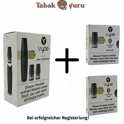 Vype ePen 3 Starterset Blau + 2 Pack Caps nach Wahl