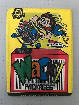 Wacky Packages Wax Pack Opee Chee Topps Collants 6 Stickers