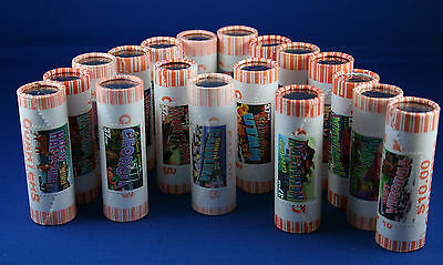 Complete 50 Rolls Set 1999/2008 Statehood Quarters In Tubes W/ States Stamps Nr