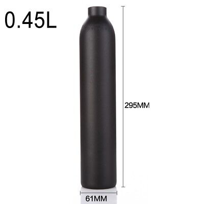 0.45L 4500psi Air Tank High Compressed Gas Cylinder Bottle Paintball PCP 0.45L
