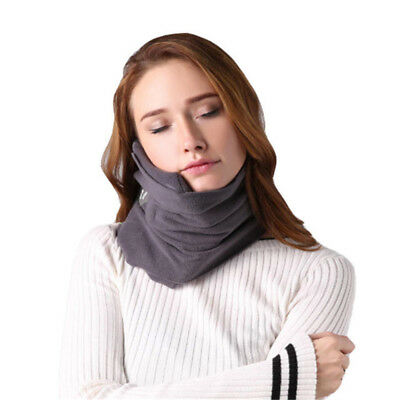 Travel Pillow Scientific Proven Neck Support Airplane Pillow Soft Scarf Gary