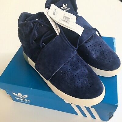 quality design b2b57 e15de ADIDAS ORIGINALS TUBULAR Invader Strap Men's Basketball Shoes Trainers Navy  Blue