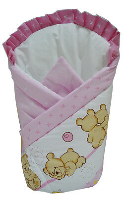 Quilt Swaddle Wrap 80x80 Soft Baby Infant Sleeping Bag Cotton Girl Pink 1 month