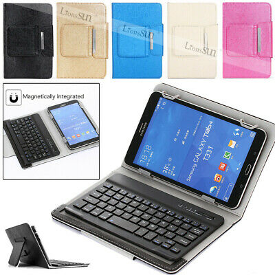 For HUAWEI MediaPad T3 M3 M5 7.0/8.0/10 inch Tablet Leather Keyboard Case Cover