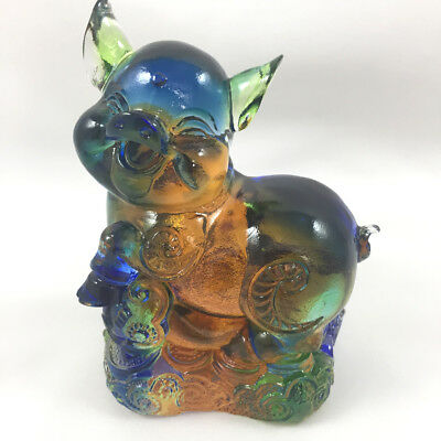 Amore Jewell Chinese Zodiac Collection - Pig Colored Glaze Glass(Liuli Crystal)