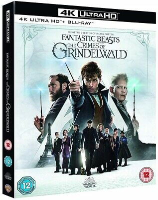 FANTASTIC BEASTS (2018) THE CRIMES OF GRINDELWALD: Harry Potter RgFre 4K+BLU-RAY