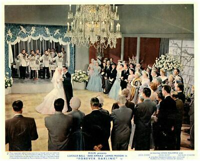 Forever Darling Original Lobby Card Lucille Ball Desi Arnaz wedding dance 1956