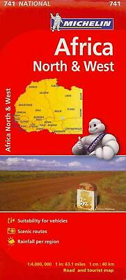 Michelin Africa North & West (English) Folded Book Free Shipping!