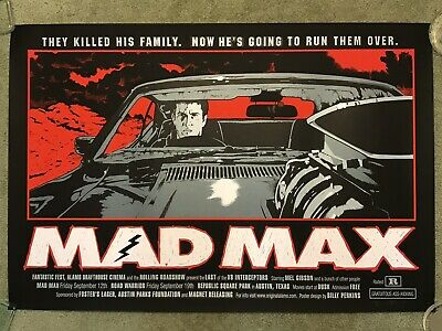 Mad Max Mel Gibson Movie Variant Art Print Poster Mondo Billy Perkins Fury Road