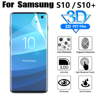 For Samsung Galaxy S10 plus soft silicon curved Full Cover Film Screen Protector