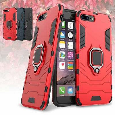For iPhone 7 Plus 8 Plus Shockproof Ring Stand Mount Rugged Hybrid Case Cover
