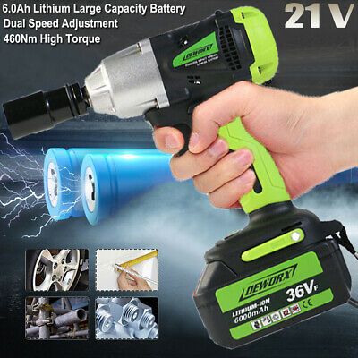 """Li-Ion Battery 21 Volt Max Cordless Lithium-Ion 1/2"""" High Torque Impact Wrench"""
