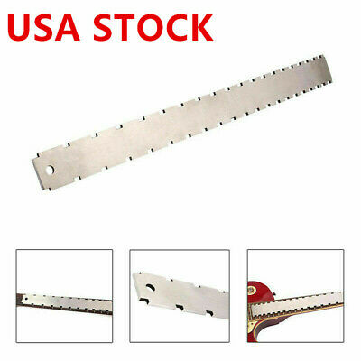 Guitar Neck Notched Straight Edge Luthier Fingerboard Edge Fret Ruler Tools US