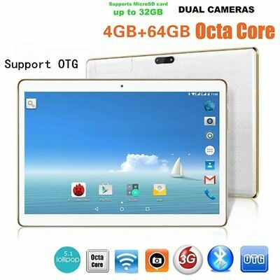 10.1'' 64GB Android 6.0 Tablet PC Octa Core 10 Inch HD WIFI 2 SIM 4G Phablet DA