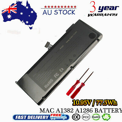 "A1382 Battery For Apple MacBook Pro 15"" early late 2011 Mid 2012 Series"