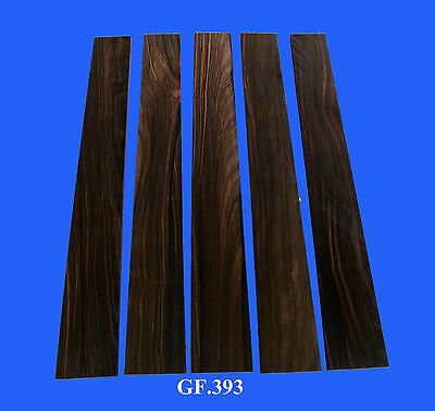 Antoniotsai - 5 Pieces Macassar Ebony Flat Fingerboard Guitar Parts GF393