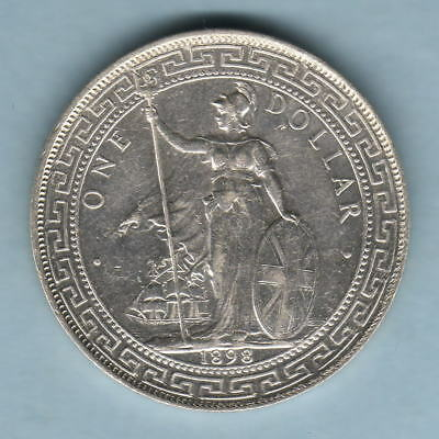 Great Britain.  1898-B Trade Dollar.. gVF/EF - Part Lustre