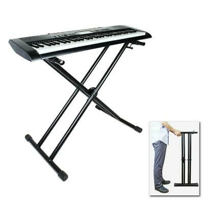 Professional Braced Keyboard Stand Electric Piano Stand Dual-tube X-Type