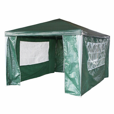New 3m x 4m Green 120g Waterproof Outdoor PE Gazebo Marquee Canopy Party Tent
