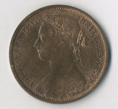 Victoria, Penny, 1877, EF with lustre