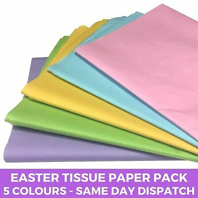 Pastel Tissue Paper Pack -  5 Colours Wrapping Craft Acid Free Sheets