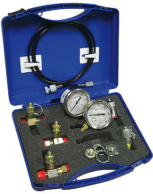 JCB,hydraulic,test, kit,pressure,adaptors,hose,gauges