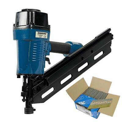 Silverline 282400 Air Framing Nailer 90mm Kit with 2200 x 3.1/90mm Ring Nails