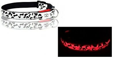 (10) NEW LED Light Lighted Adjustable Dog Puppy Safety Small Collar- Wholesale