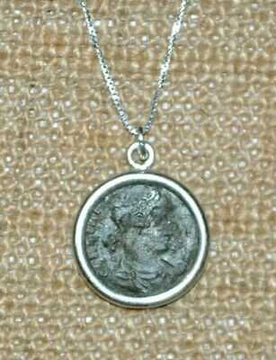 Constantine the Great House Constantius II Authentic Roman Coin Silver Necklace