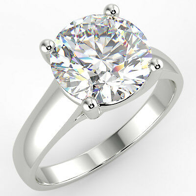 2.08 Ct Round Cut VS2/D Solitaire Diamond Engagement Ring 14K White Gold