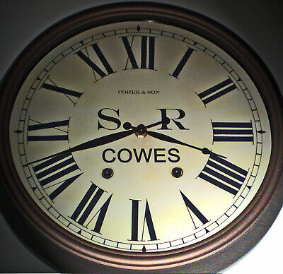 Southern Railway Style SR Waiting Room/Ticket Office Clock, Cowes Station