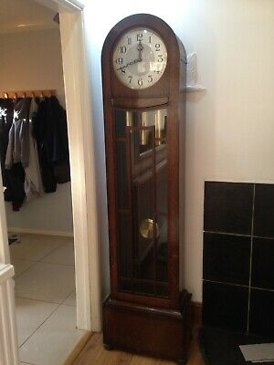 Solid Oak Grandfather Clock Smiths Enfield