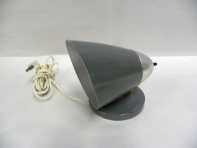 Vintage Mid Century Modern Eames Era Wall Hanging Sconce Lamp Cone Shade (A6)