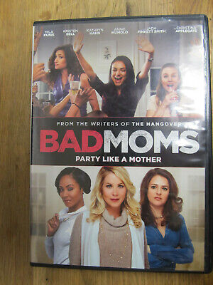 Bad Moms Widescreen Dvd Movie Mila Kunis Kristen Bell Jay Hernandez Kathryn Hahn