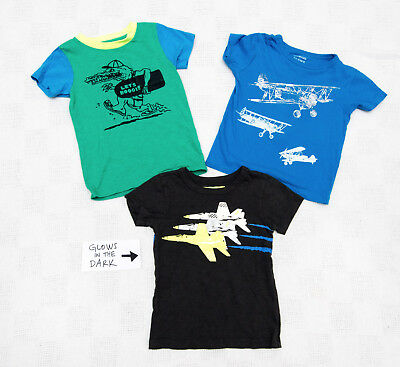CREWCUTS Lot of 3 3T Boys T Shirts - two are Glow in the Dark