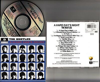 THE BEATLES- A Hard Day's Night 1964 Film Soundtrack CD (ITALY PRESSING)