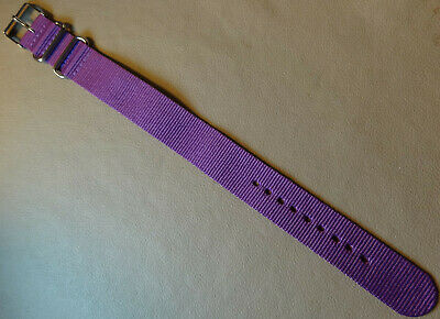 6e366c07686 New LONG Easy Pass Thru Timex Weekender ONE PIECE Nylon 20mm Purple Watch  Band