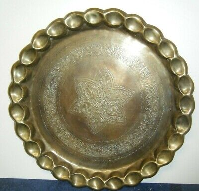 Antique Persian Islamic Hand Made Brass Tray