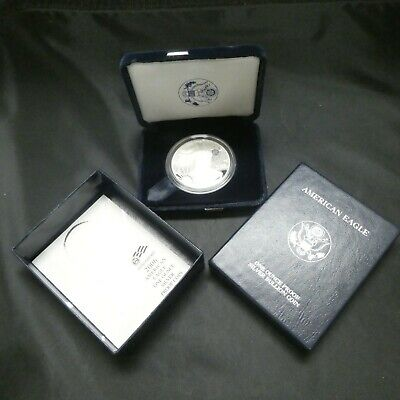 2006 $1 American Eagle Proof Silver Dollar Box And Coa