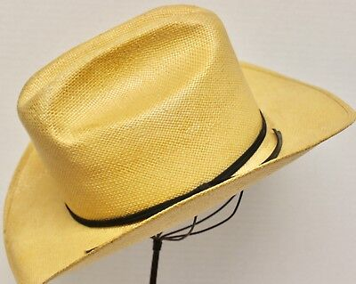 44fdb660805d5 Larry Mahan Straw Cowboy Hat~ Size 6 7 8~Milano Hat Co~