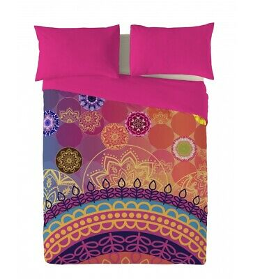 Naturals - Funda nórdica Yasin -Cama 150cm-  Casual Homewear Multicolor Rosa