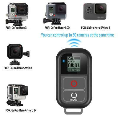 Smart Wireless WiFi Remote Control for GoPro Hero 7 6 5 4+ Charge Cable +Strap