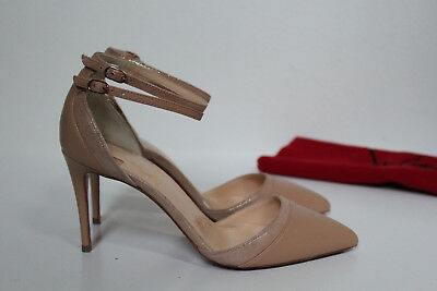 469040f85736 sz 5   35 Christian Louboutin Uptown Double Nude Leather Pointed Toe Pump  Shoes