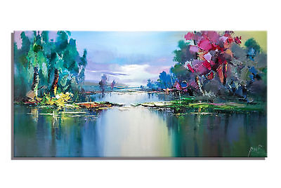 Abstract Hand-Painted Scenery Oil Painting Home Decor Art Wall On Canvas