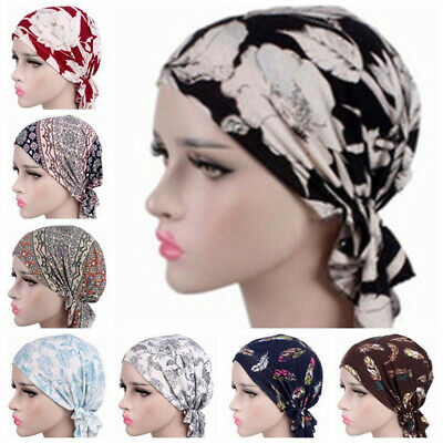 Women Muslim Stretch Turban Hat Chemo Cap Hair Loss Head Scarf Wrap Hijab Cap