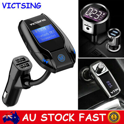 Victsing Wireless Bluetooth Car Kit FM Transmitter Radio MP3 Player USB Charger